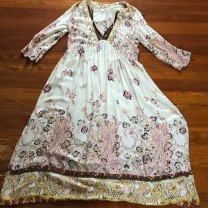 Free people long sleeved dress with flowers